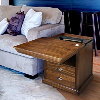 Casual Home  Lincoln Nightstand  with Concealed Compartment, Concealment Furniture, Mocha