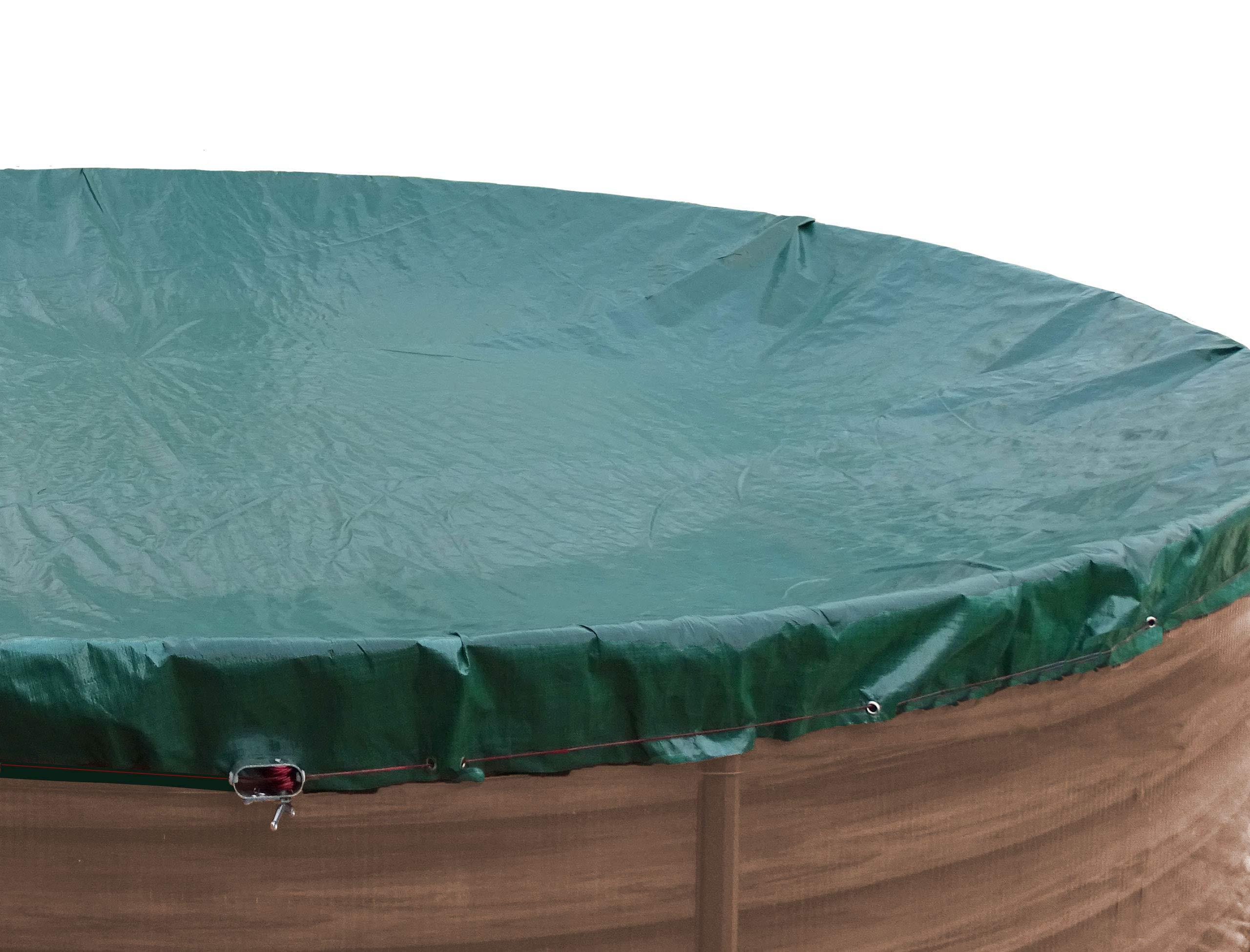 QUICK STAR Cubierta de piscina de invierno redonda 180g / m² para ...