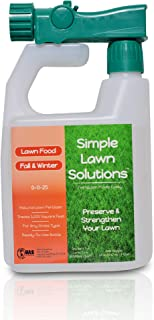 Fall/Winter Protection Lawn Food for Root Growth- Natural High Potash Liquid Turf Fertilizer 0-0-25 NPK Concentrated Spray, Any Grass Type, Simple Lawn Solutions, 32-Ounce (1, 32 Ounces)