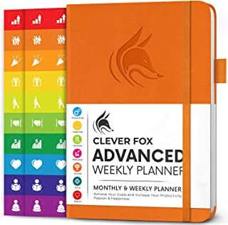 $24 » Sponsored Ad - Clever Fox Advanced Weekly Planner – Undated Life Goal Planner for Daily Productivity & Time Management – D...