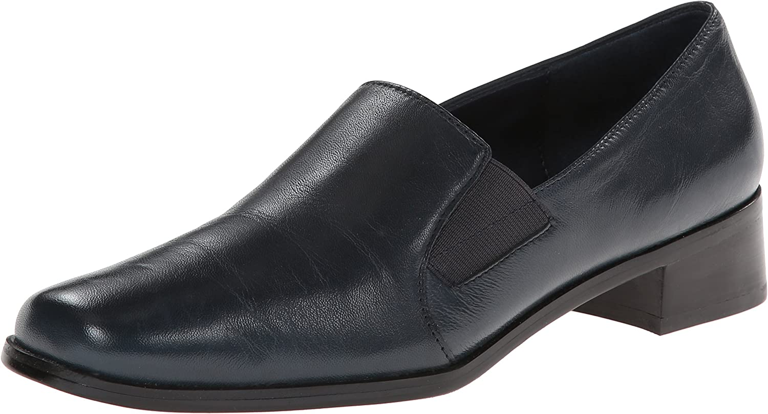 Trotters Women's Ash Loafer,Navy Kid,10.5 M