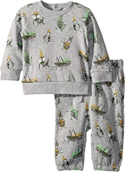 Billy + Loopie Bug Printed Fleece Set (Infant)