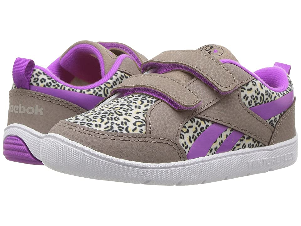 Reebok Kids Ventureflex Critter Feet (Toddler) (Stone Grey/Sand Stone/Violet/Black) Girls Shoes