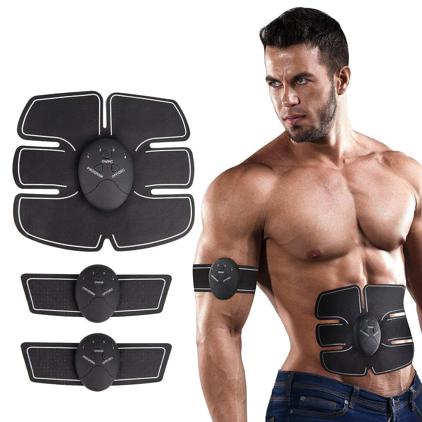 フィットネス腹筋トレーナーEMS筋刺激剤筋トナー腹筋マッサージ器、家庭用ユニセックスUSB充電腹部/腕/脚重量を減らすためのトレーニング腹筋トレーニング
