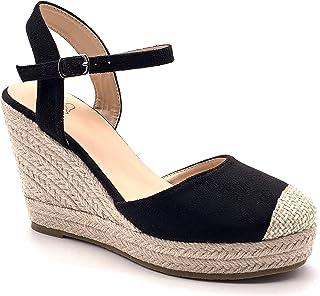 cerca le ultime limpido in vista ultimo design Amazon.it: espadrillas donna zeppa - Nero: Scarpe e borse