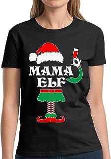 Mama Elf Christmas Shirt Mama Elf Shirt for Women Mama Elf Costume T-Shirt Ugly Christmas Tshirts for Women