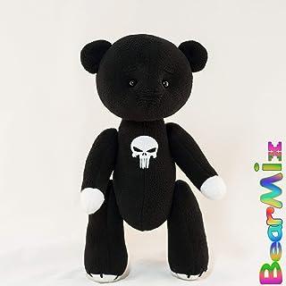 2318066aee89 Punisher bear - marvel superhero movie comic plush toy Francis