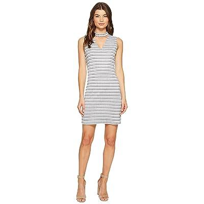 1.STATE Bar Neck Shift Dress (Rich Black) Women