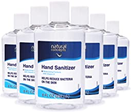 Natural Concepts Hand Sanitizer Gel, 65% Ethyl Alcohol with Vitamin E, Family Value 6 Pack of 8 oz. bottles, Protect Again...