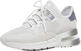 ASH Women's Krush Glitter Knitted Trainers Silver