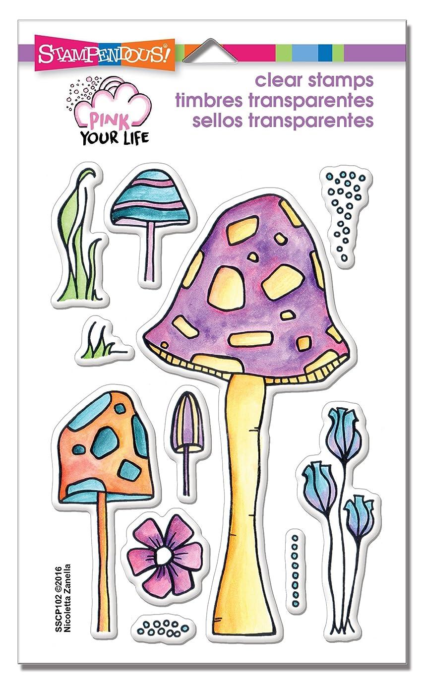 STAMPENDOUS Clear Stamp Set, Mushrooms