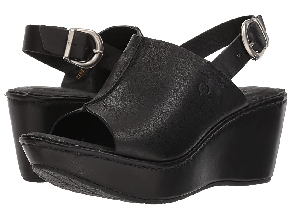 Born Valencia (Black Full Grain Leather) Women