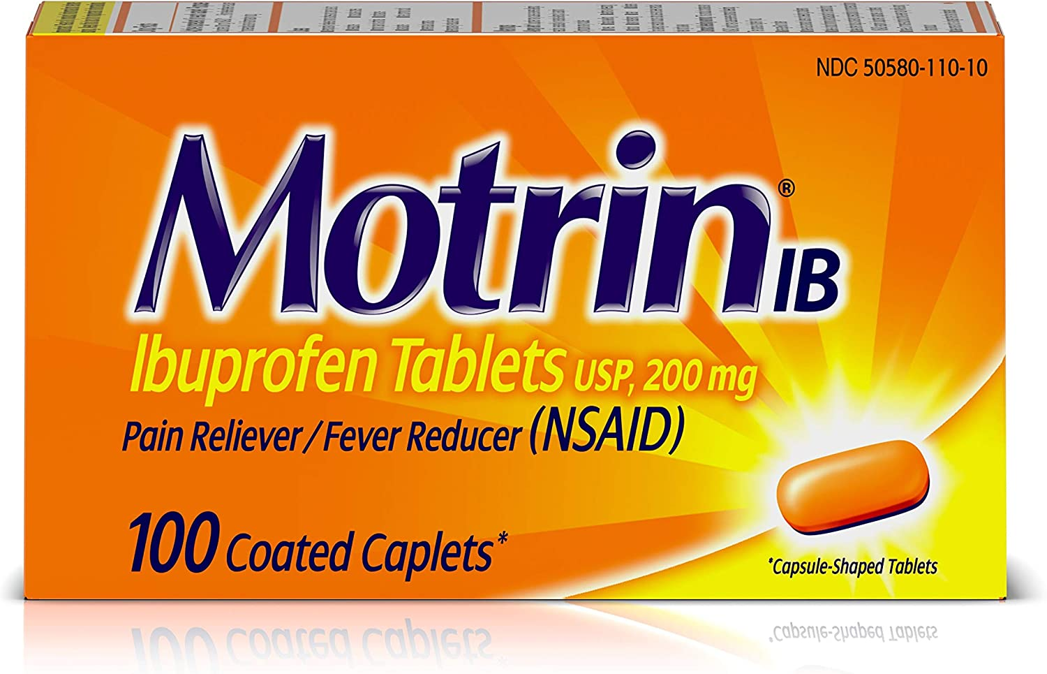 Motrin IB Pain Reliever Fever Popular product NSAID Tablets Cheap super special price Ibuprofen Reducer