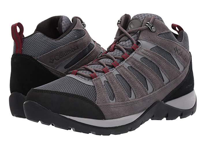 Columbia  Redmondtm V2 Mid Waterproof (Graphite/Red Jasper) Mens Hiking Boots