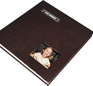 ZOVIEW ART Photo Album Holds 3X5, 4X6, 5X7, 6X8, 8X10 Photos, Fabric Frame Cover, Magnetic Self-Stick Page, Hand Made DIY Alb