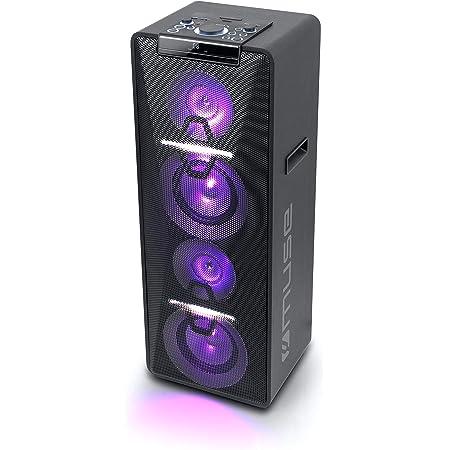 Auna Streetstar Mobile Pa Anlage Musikanlage Bluetooth Usb Port Sd Mp3 Aux In Akku Led Display 15 38 Cm Subwoofer Max 1000 W Weiß Audio Hifi