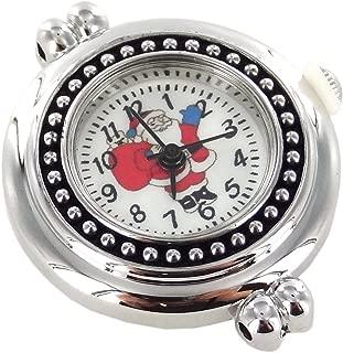 "Linpeng Interchangeable Jewelry Quartz Santa Claus-Size 1""-Silver & Black Watch Face, 1"", Silver/Red/Black"