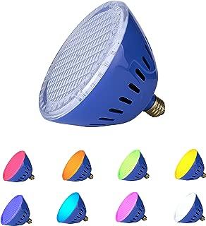 LAMPAOUS LED Pool Lights Bulb, RGB Muliti Color LED Pool Lights, E26 Base Par 56 Replacement Bulb 120VAC 35 Watt