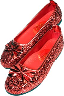 Wizard of Oz Child's Deluxe Dorothy Ruby Red Slippers, Medium