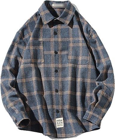 Outwears - Camisa informal de franela cepillada a cuadros ...