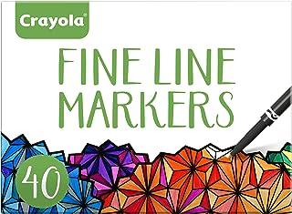 علامت های خط Crayola کامل، رنگ های مختلف، رنگ آمیزی بزرگسالان، 40 تعداد، هدیه