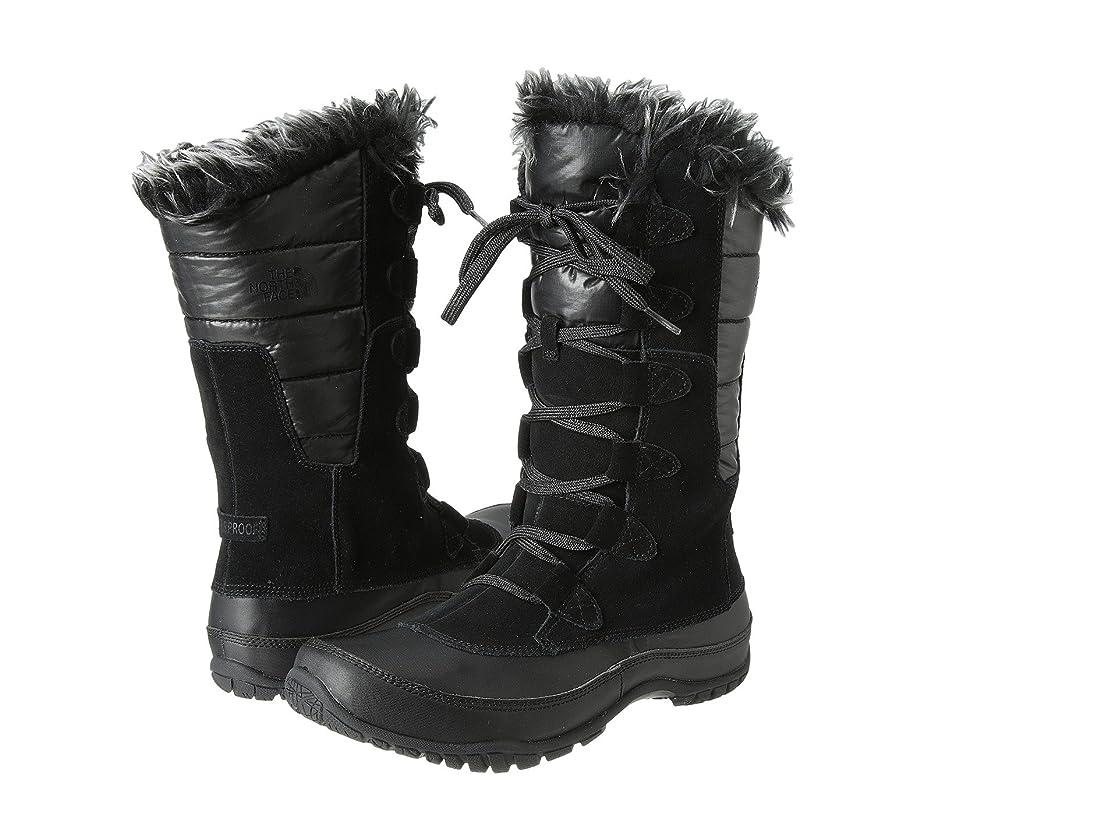 群衆メディック遠近法[ノースフェイス] The North Face レディース Nuptse Purna ミドルブーツ Shiny TNF Black/TNF Black US11 - B - Medium [並行輸入品]