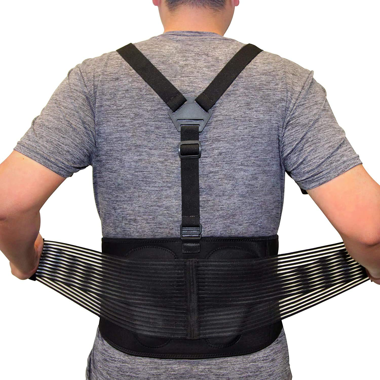 AllyFlex Back Support Belt Fees free for Men Ad and Easy-to-use Women Size 3-Way Plus