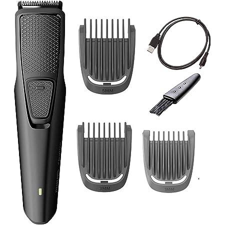 PHILIPS Norelco recortadora de barba y rastrojos con 3 accesorios sin cable, ligera y carga USB, ideal para viajes