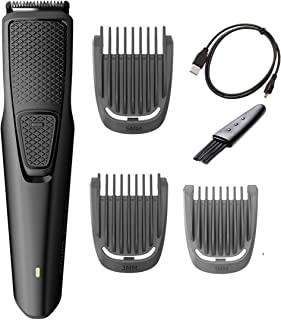 Philips Norelco Beard and Hair Trimmer with 3 Attachments Cordless Hair Clipper Lightweight and USB Charging- Great for Travel
