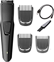 Philips Norelco Beard and Stubble Trimmer with 3 Attachments Cordless Hair Clipper Lightweight and USB Charging- Great for...