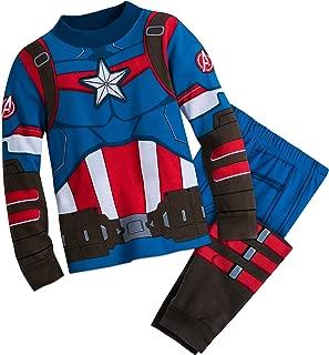 Captain America Costume PJ PALS for Boys Multi