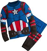 Marvel Captain America Costume PJ PALS for Boys Multi
