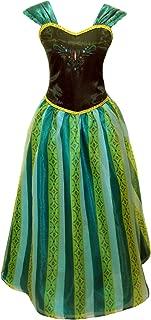 Cokos Novelty Adult Women Princess Elsa Anna Coronation Dress Costume