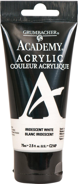 Grumbacher Academy Acrylic Paint, 75ml/2.5 Ounce Plastic Tube, Iridescent White (C214P)