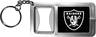 Siskiyou NFL Oakland Raiders Split Ringer Flashlight Key Chain with Bottle Opener, Grey/Black