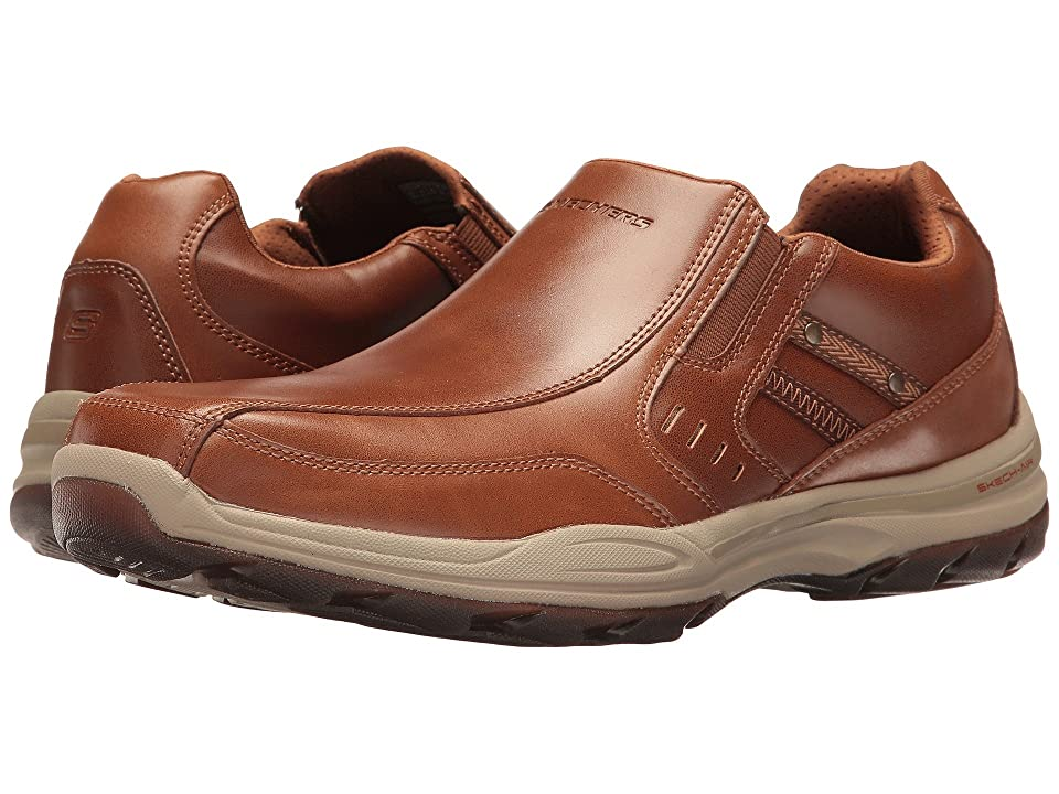 SKECHERS Classic Fit Elment Brencen (Cognac Leather) Men