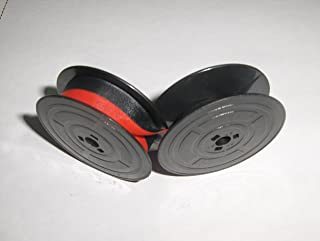 Original Olivetti A730, A770, Lexicon 80, Linea 88, Linea 98, Scribe, Standard, Studio 42, Studio 44, 45, 46, Tekne 3 and Valentine Typewriter Ribbon, OEM, Black and Red, Twin Spool by FJA products