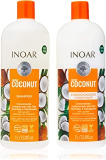 Inoar Kit Shampoo e Condicionador Coconut com Óleo de Coco,2x1L