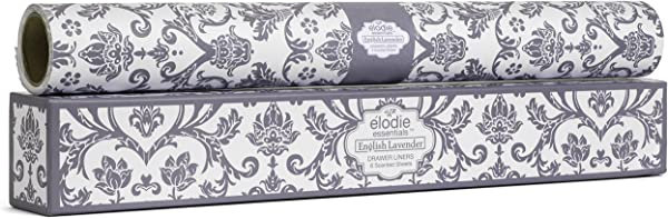 Elodie Essentials Scented Drawer Liners Royal Damask English Lavender