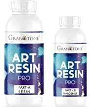 GRANOTONE Crystal Clear UV Resistant| Long- Lasting| Smooth Finish| All Surface |Easy to Use |Non-Toxic Epoxy Art Resin Fo...