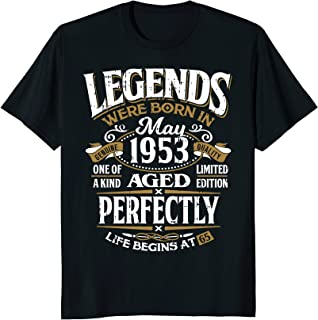 Legends Were Born In May 1953, 65th Birthday Gift Shirt