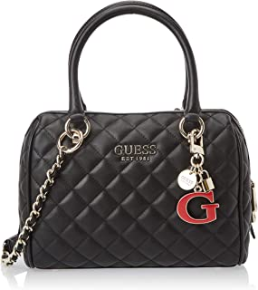 Guess Womens Satchel Bag, Black - VG766705