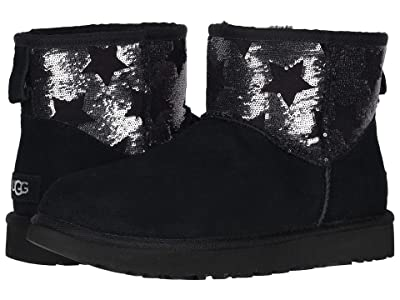 UGG Classic Mini Sequin Stars (Black) Women