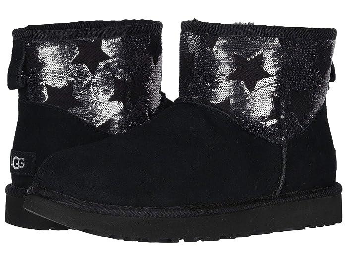 UGG  Classic Mini Sequin Stars (Black) Womens Boots