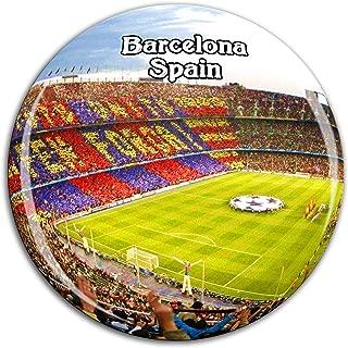 Camp Nou Barcelona Spain Fridge Magnet 3D Crystal Glass Tourist City Travel Souvenir Collection Gift Strong Refrigerator Sticker