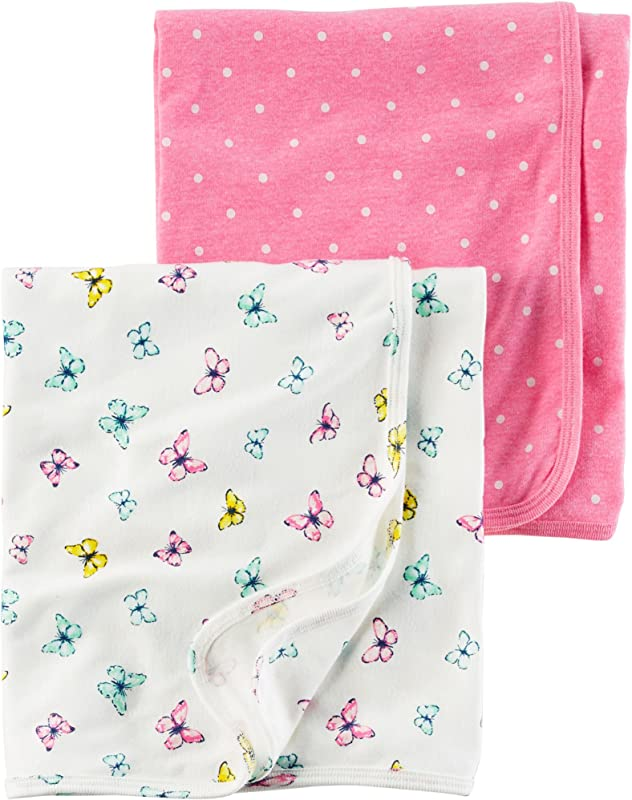 Carter S Baby Girls 2 Pack Swaddle Blankets