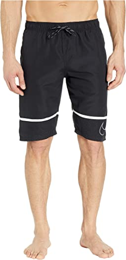 "11"" Perforated Swoosh Breaker Volley Shorts"