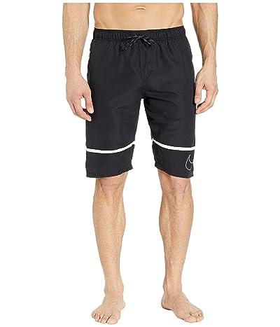 Nike 11 Perforated Swoosh Breaker Volley Shorts (Black) Men