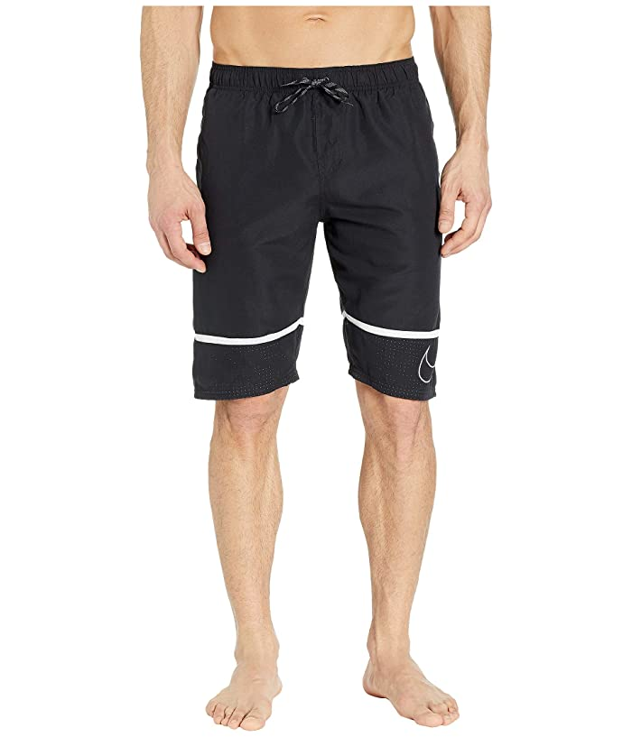 Nike 11 Perforated Swoosh Breaker Volley Shorts (Black) Men