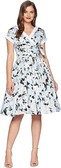 Pleated Waldorf Swing Dress